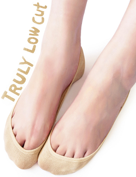 VERO MONTE 4 Pairs Womens TRULY No Show Socks (Nude, 5.5-7) - Invisible Socks