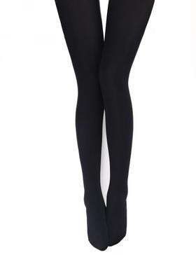 VERO MONTE 1 Pair Womens Opaque Warm Fleece Lined Tights (BLACK) 460112