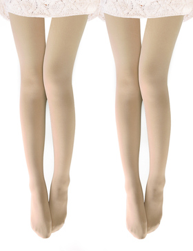 VERO MONTE 2 Pairs Womens Opaque Warm Fleece Lined Tights (Nude) 460711