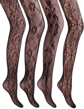 VERO MONTE 4 Styles Women's Fishnet Stockings Tights Fishnet Tights High Waist
