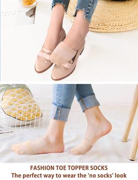 VERO MONTE 6 Pairs Toe Topper Socks Women Half Socks Women No Show Liner Socks