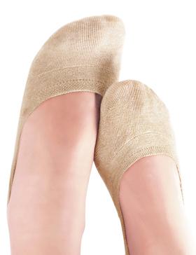 VERO MONTE 4 Pairs SPORTS No Show Socks Women - Cotton Liner Socks (NUDE, 6-8)