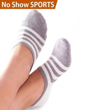Vero Monte 4 Pairs Womens No Show Athletic Socks Liners (Size 6-7.5, Grey)
